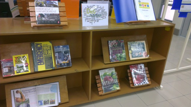 Books Display on Nutrition and Disaster Preparedness