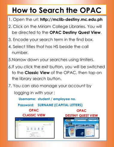 how to search the OPAC (1)